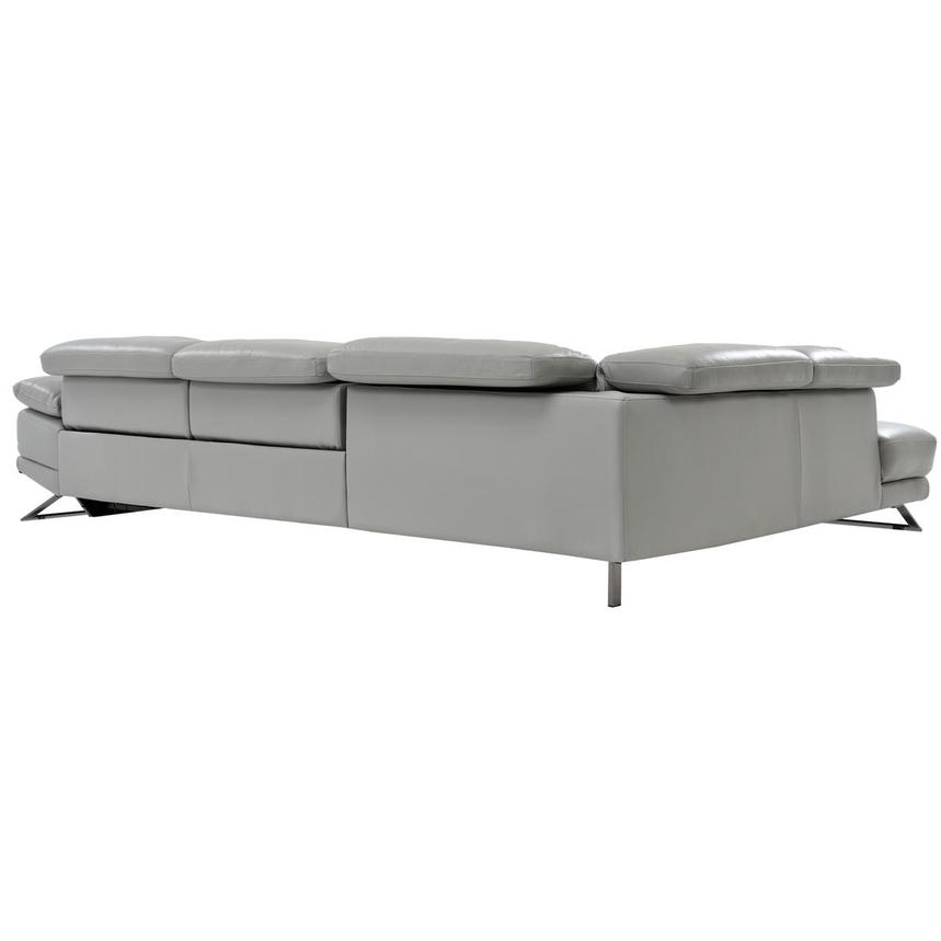 Toronto Light Gray Leather Power Reclining Sofa w/Left Chaise  alternate image, 4 of 7 images.
