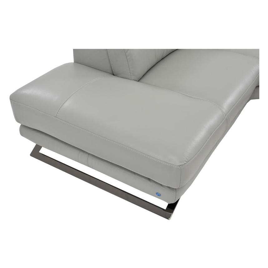 Toronto Light Gray Leather Power Reclining Sofa w/Left Chaise  alternate image, 6 of 7 images.