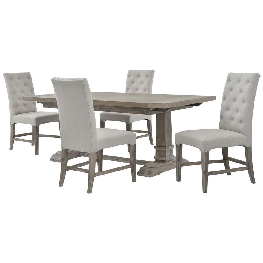 Hudson/Beltran Gray 5-Piece Dining Set  main image, 1 of 13 images.
