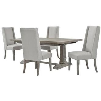 Hudson Gray 5-Piece Formal Dining Set