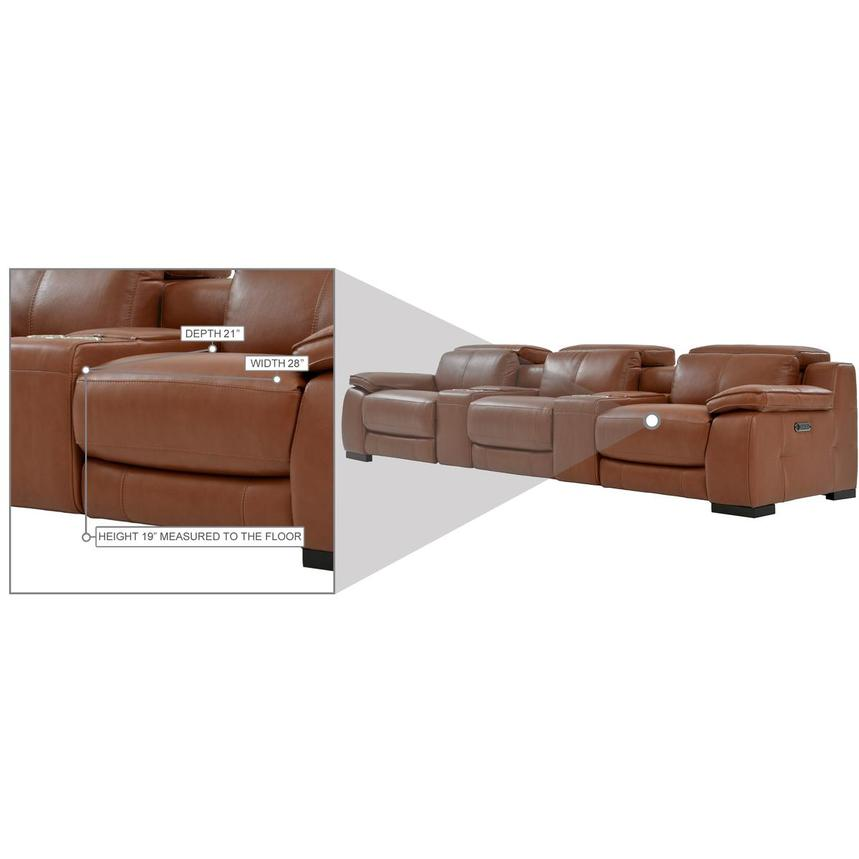 Gian Marco Tan Home Theater Leather Seating  alternate image, 10 of 10 images.