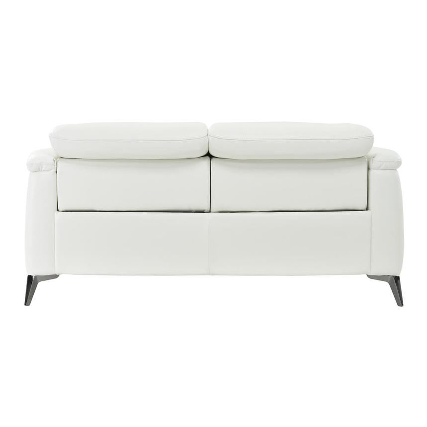 Anabel White Power Motion Leather Loveseat  alternate image, 5 of 8 images.