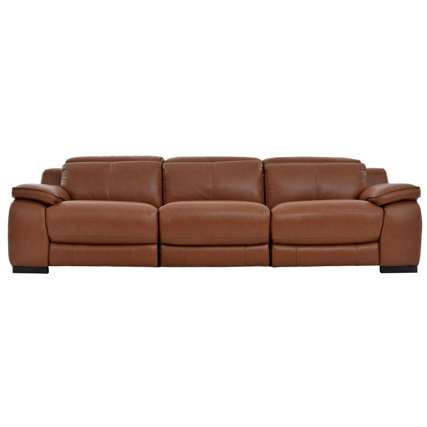 Gian Marco Tan Oversized Leather Sofa  main image, 1 of 10 images.