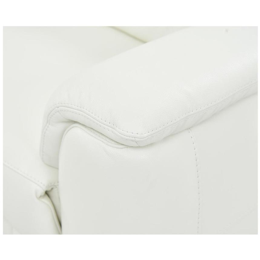 Anabel White Leather Power Reclining Sectional  alternate image, 5 of 7 images.
