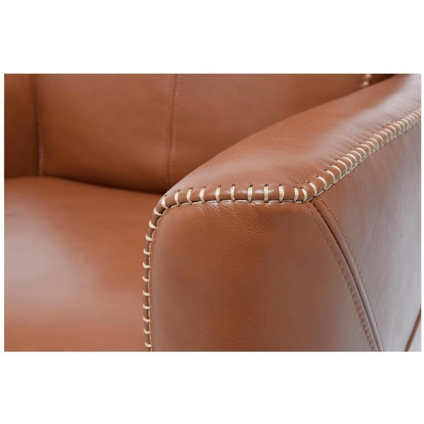 Jon Cognac Power Motion Leather Recliner  alternate image, 6 of 7 images.