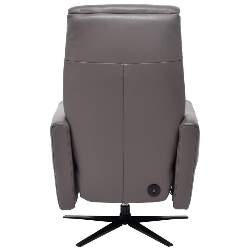 Ron Gray Power Motion Leather Recliner El Dorado Furniture