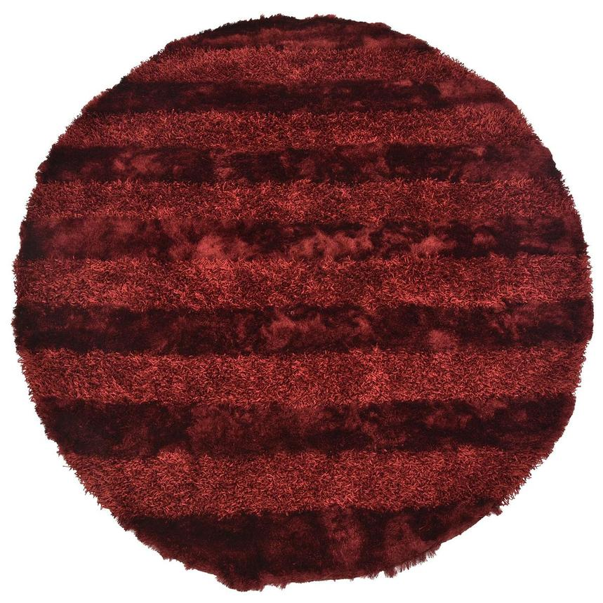 Fusion Red 8' Round Area Rug  main image, 1 of 3 images.