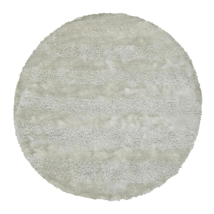 Fusion White 8' Round Area Rug  main image, 1 of 3 images.