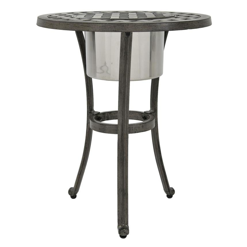 Castle Rock Gray Side Table w/ Ice bucket  main image, 1 of 3 images.
