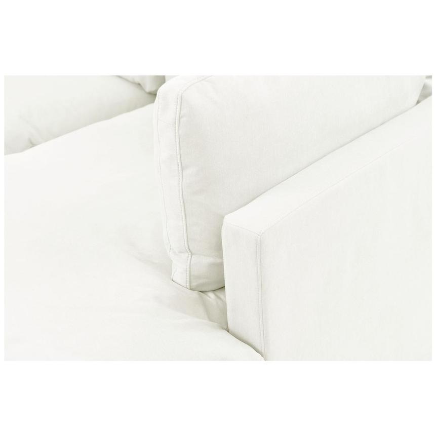 Neapolis White Sofa w/Right Chaise  alternate image, 5 of 5 images.