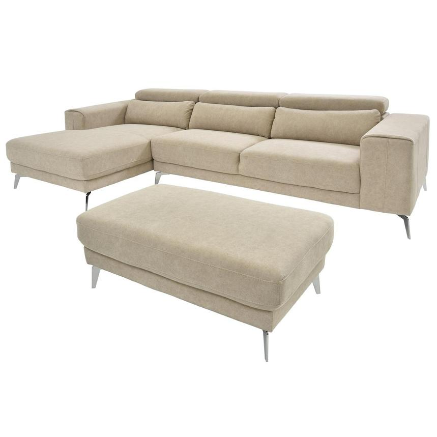 Tyler Sofa w/Left Chaise & Ottoman  main image, 1 of 6 images.