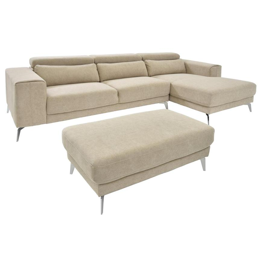 Tyler Sectional Sofa w/Right Chaise & Ottoman