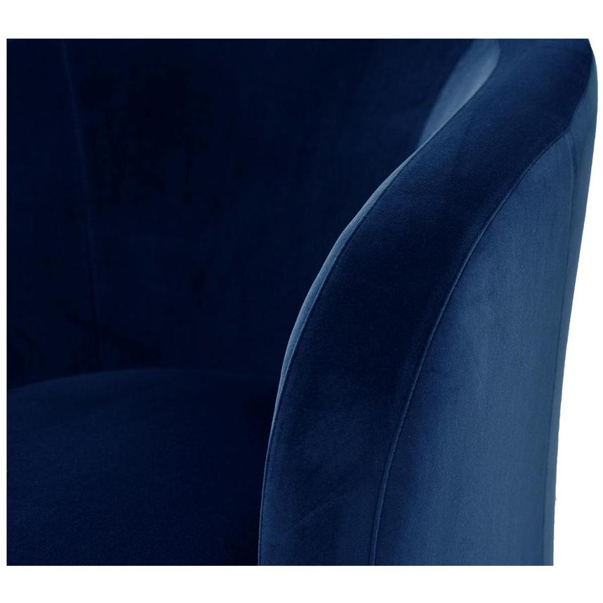 Delia Blue Swivel Accent Chair  alternate image, 5 of 5 images.