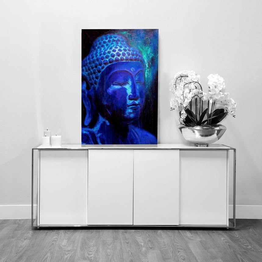 Blue Buddha Acrylic Wall Art  alternate image, 2 of 2 images.