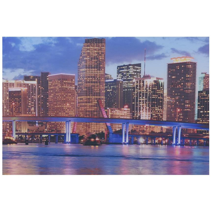 Miami Skyline III Set of 3 Acrylic Wall Art  alternate image, 4 of 5 images.