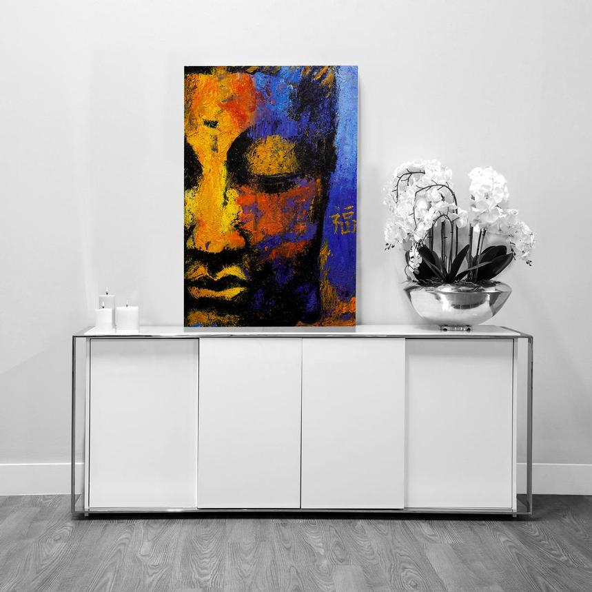 Partial Face Buddha Acrylic Wall Art  alternate image, 2 of 2 images.