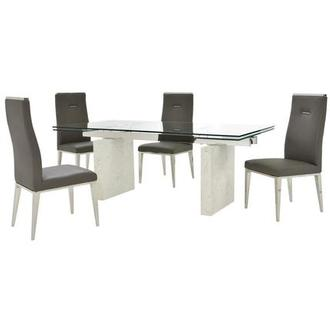 Industria/Hyde I Dark Gray 5-Piece Formal Dining Set