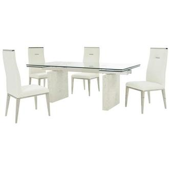 Industria/Hyde I White 5-Piece Dining Set