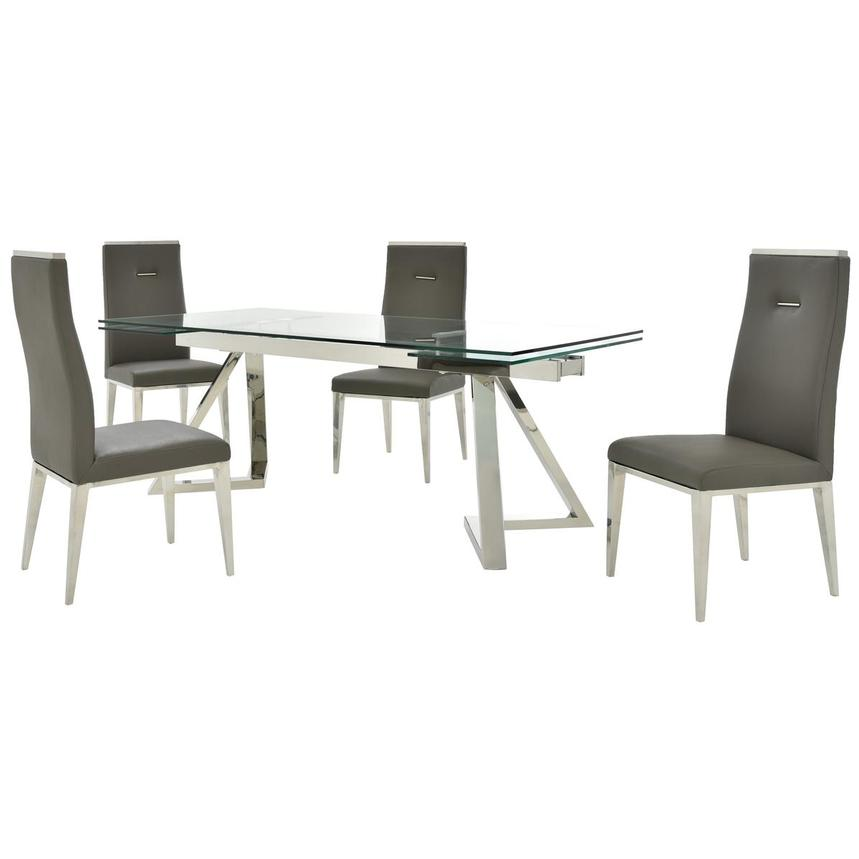 Suri/Hyde Gray 5-Piece Formal Dining Set  main image, 1 of 14 images.