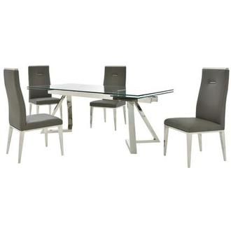 Suri/Hyde Gray 5-Piece Formal Dining Set