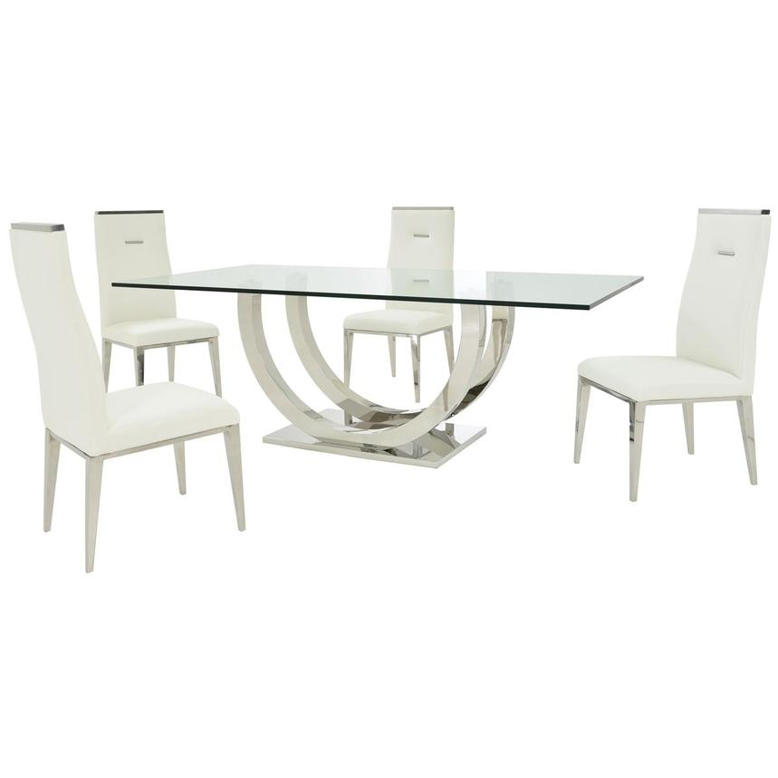 Ulysis/Hyde White 5-Piece Formal Dining Set  main image, 1 of 13 images.