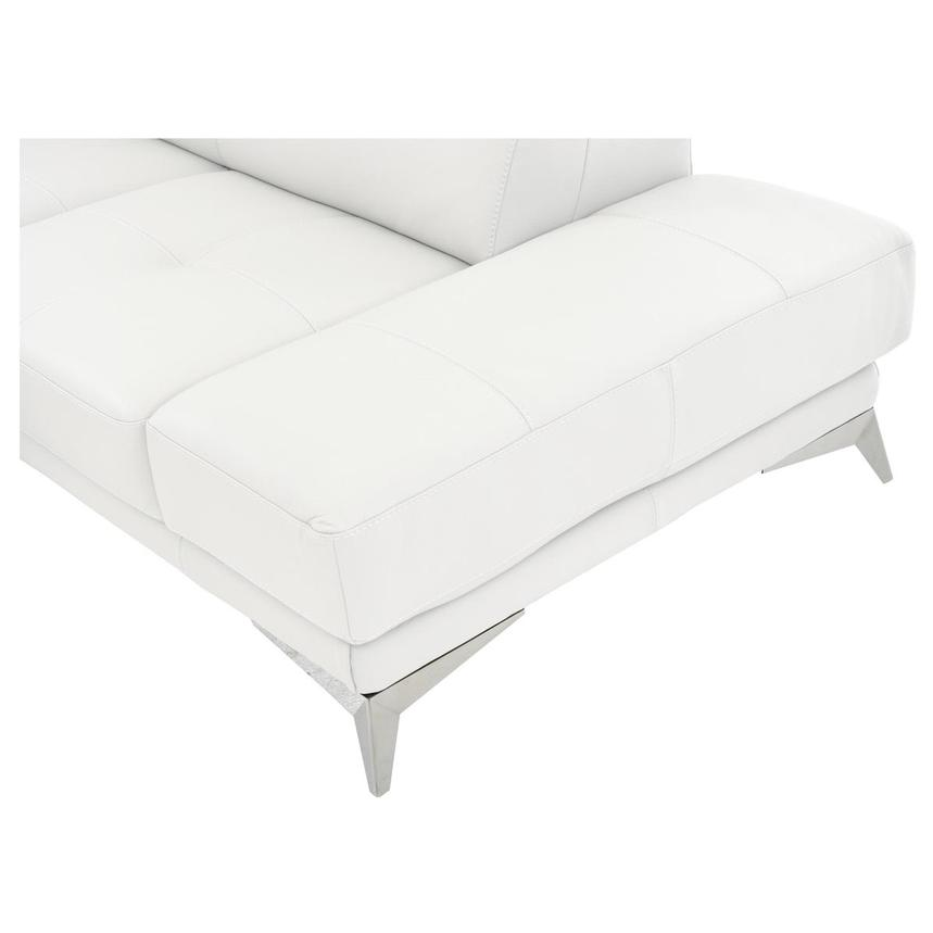 Winner White Leather Sofa w/Right Chaise  alternate image, 6 of 6 images.
