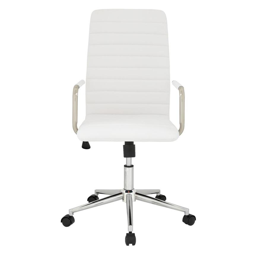 Pivot White High Back Desk Chair  main image, 1 of 7 images.