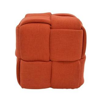 Hedron Orange Ottoman