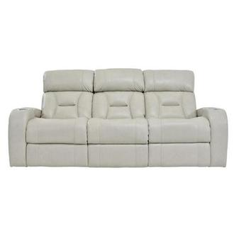 Gio Cream Power Motion Leather Sofa