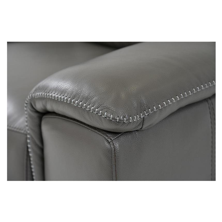 Davis 2.0 Dark Gray Leather Power Reclining Sectional  alternate image, 6 of 8 images.