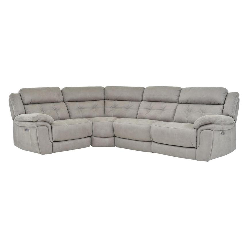 Stallion Ligth Gray Power Motion Sofa w/Right & Left Recliners  main image, 1 of 6 images.