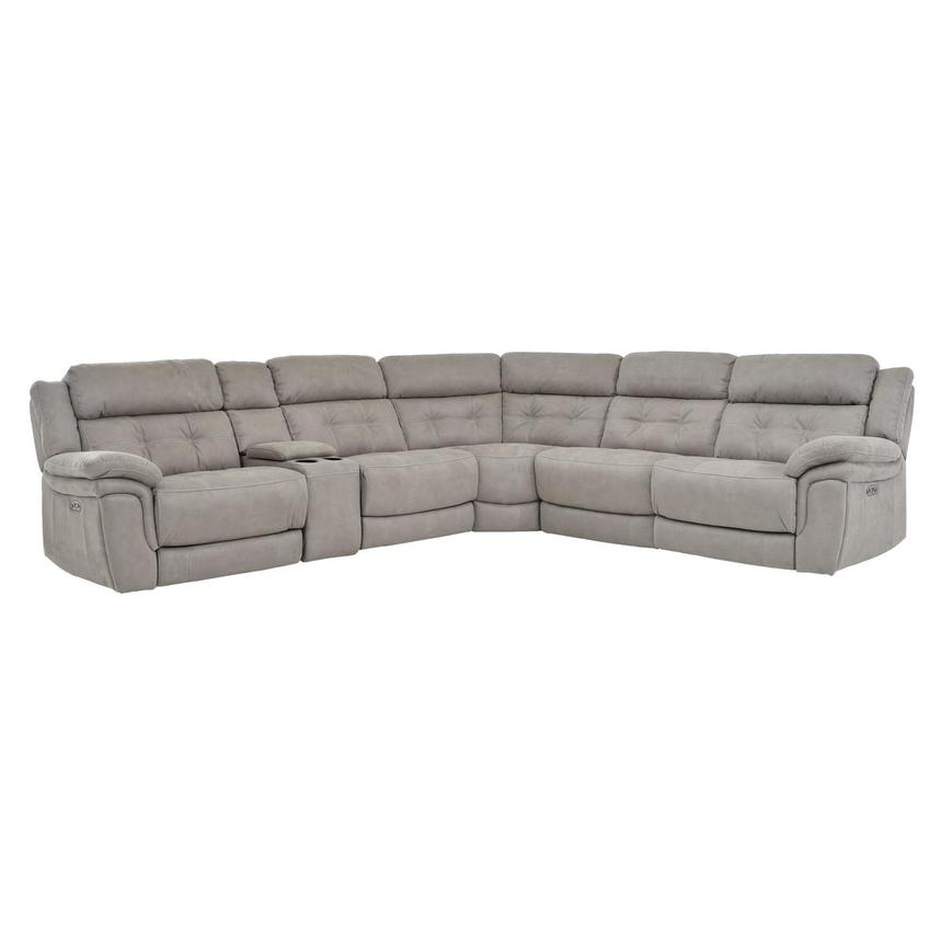 Stallion Ligth Gray Power Motion Sofa w/Right & Left Recliners  main image, 1 of 7 images.