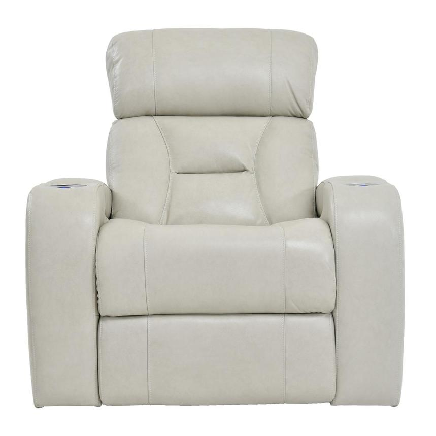 Gio Cream Power Motion Leather Recliner  main image, 1 of 9 images.