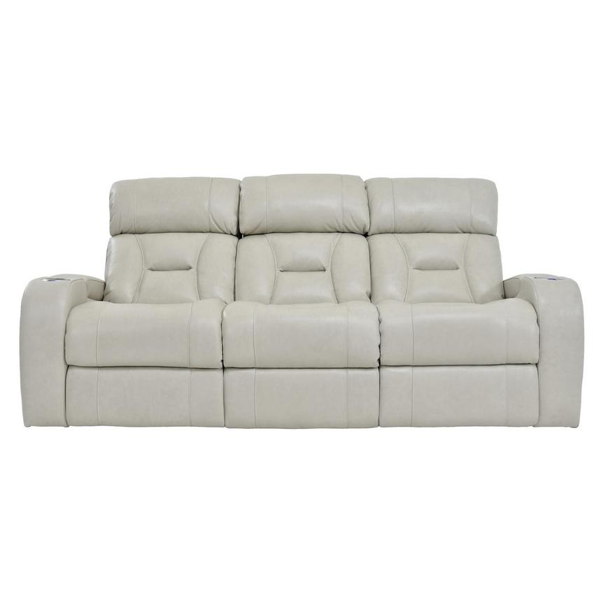 Gio Cream Power Motion Leather Sofa  main image, 1 of 12 images.