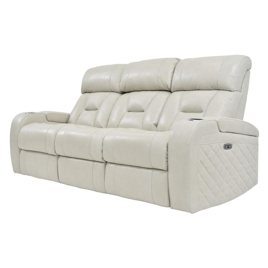 Gio Cream Leather Power Reclining Sofa  alternate image, 2 of 14 images.