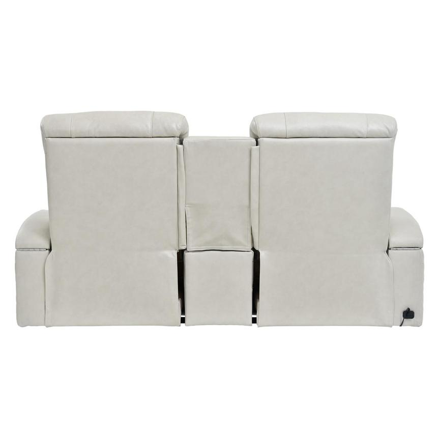 Gio Cream Leather Power Reclining Sofa w/Console  alternate image, 5 of 11 images.
