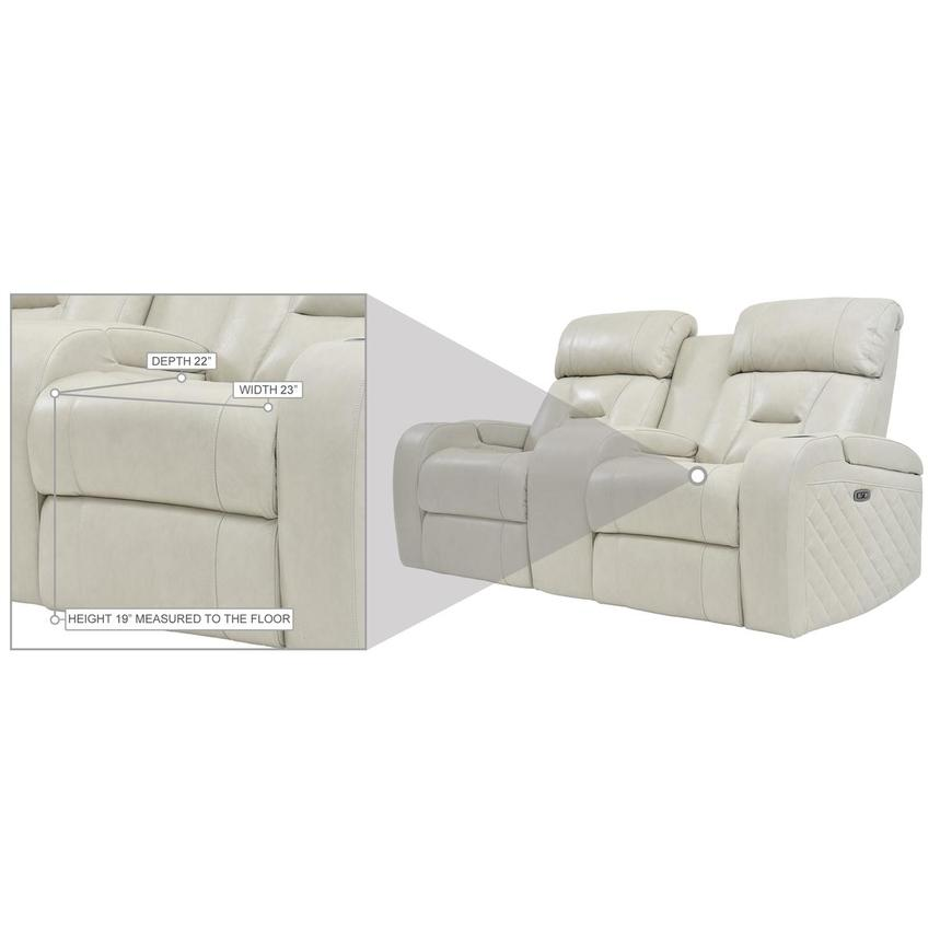 Gio Cream Leather Power Reclining Sofa w/Console  alternate image, 11 of 12 images.