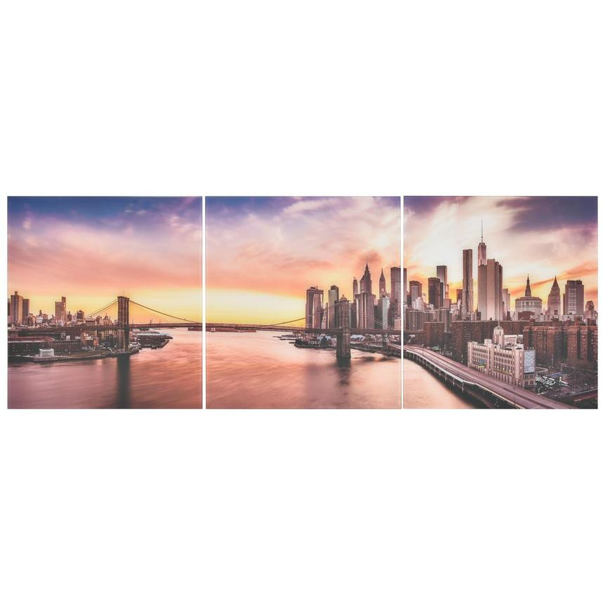 New York Set of 3 Acrylic Wall Art  main image, 1 of 2 images.