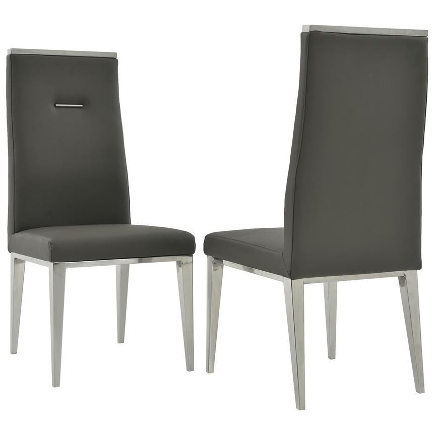 Opus/Hyde I Dark Gray 5-Piece Dining Set  alternate image, 9 of 11 images.