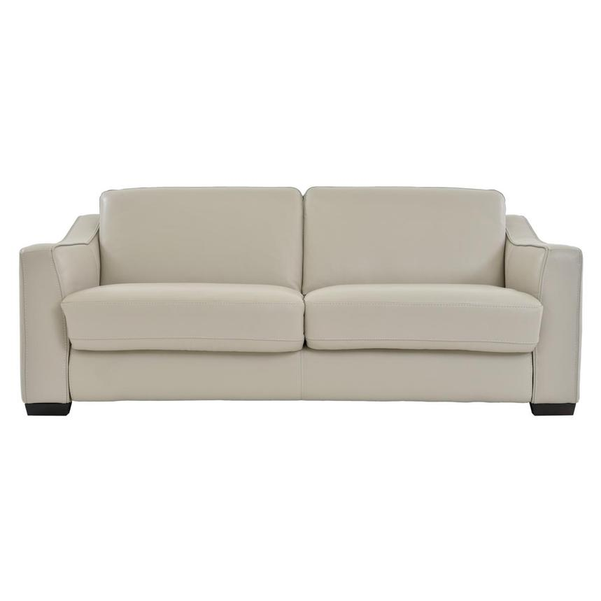 Chandler Cream Leather Sleeper  main image, 1 of 6 images.