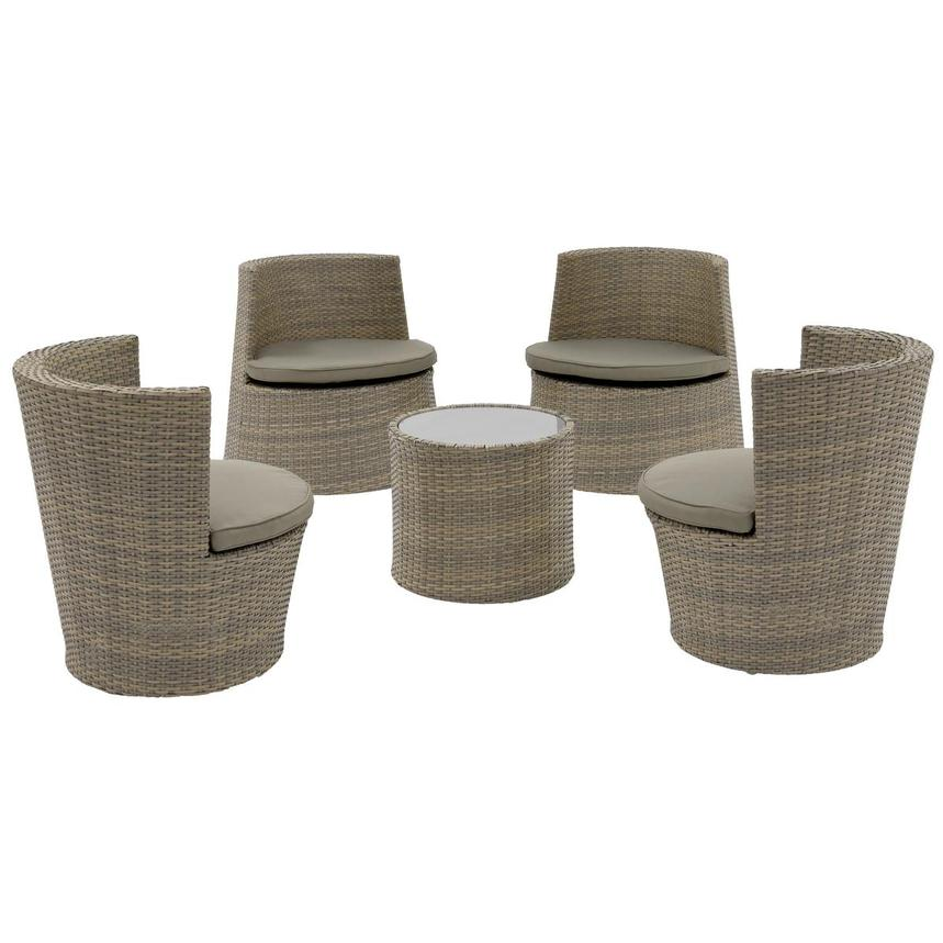 Tower Brown 5-Piece Patio Set (Sold By Set Only) main image, - Tower Brown 5-Piece Patio Set (Sold By Set Only) El Dorado Furniture