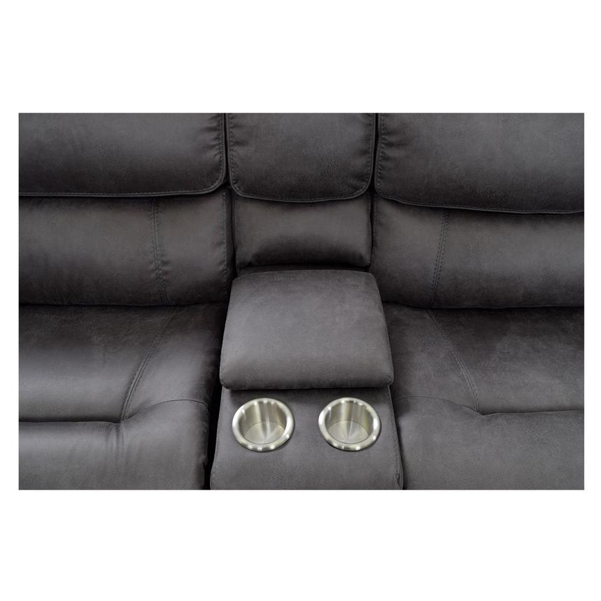 Sampson Gray Power Motion Sofa w/Right & Left Recliners  alternate image, 6 of 7 images.