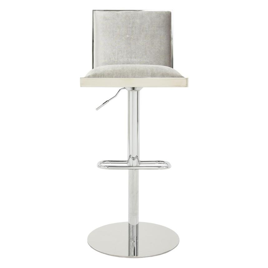 Allison Silver Gray Adjustable Stool  main image, 1 of 7 images.
