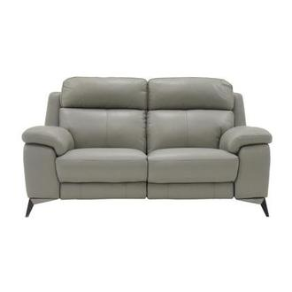 Barry Gray Leather Power Reclining Loveseat