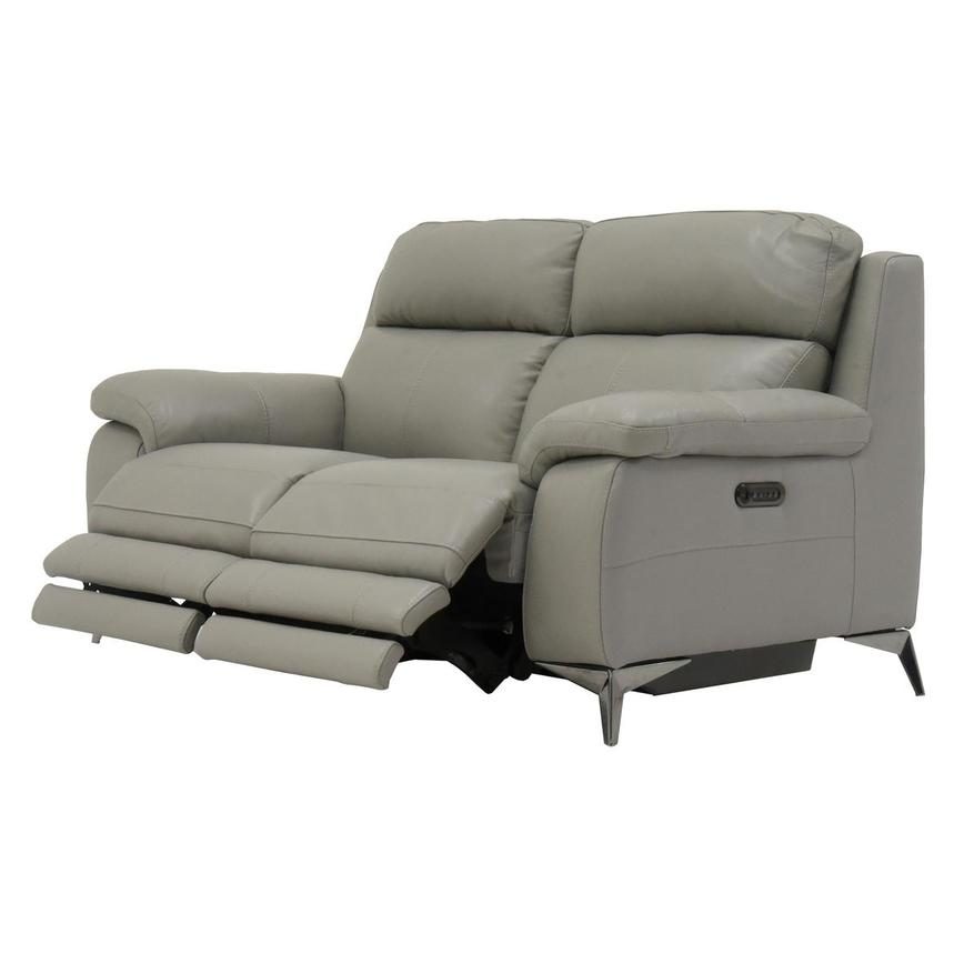 Barry Gray Leather Power Reclining Loveseat  alternate image, 5 of 10 images.