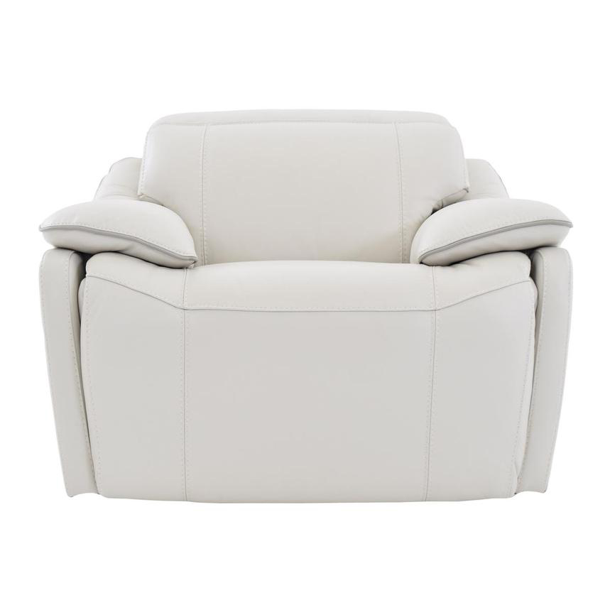 Austin White Power Motion Leather Recliner  main image, 1 of 7 images.