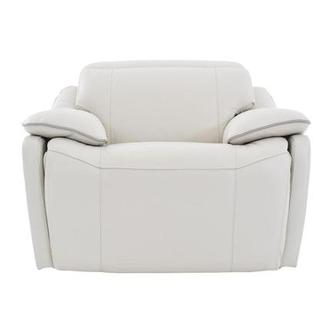 Austin Light Gray Leather Power Recliner