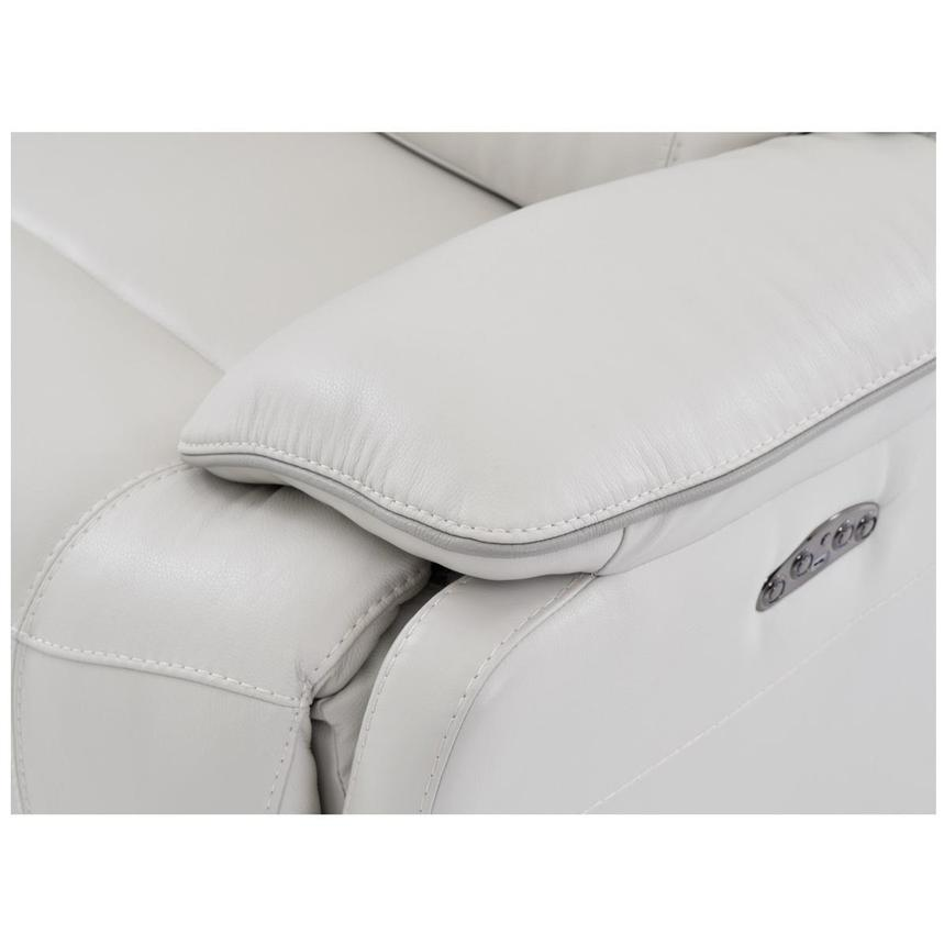 Austin White Leather Power Reclining Loveseat  alternate image, 5 of 6 images.