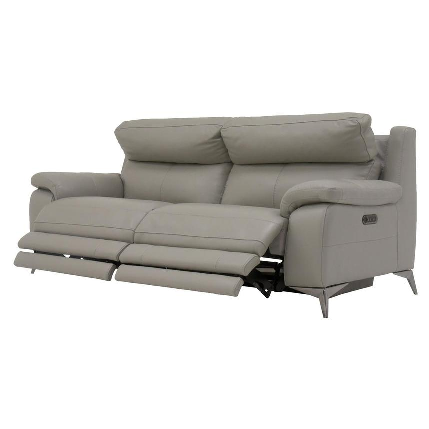 Barry Gray Leather Power Reclining Sofa  alternate image, 5 of 10 images.