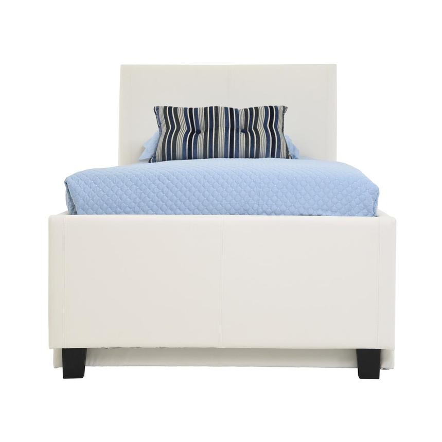 Tate White Twin Bed w/Trundle  main image, 1 of 7 images.